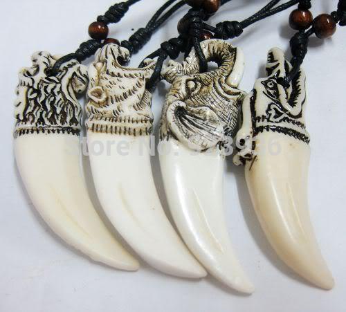 Oso colgante ENVÍO GRATIS 12 pcs Vintage Tibetano Yak Collar de Hueso Mezcla Blanca Hombre Fresco Virilidad Colgante NUEVA Joyería Talismán