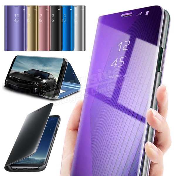 For Apple iPhone X For Apple iPhone 9 /9 plus For iPhone 7/8 Smart View Mirror Wallet Leather Flip Stand Case Cover Cell Phone Cases