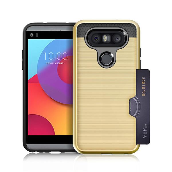 Funda para teléfono móvil con forma de tarjeta anti-caída para: LG X5 G6 G7 G8S LV1 LV5 LV7 K30 stylo3 plus Q7 Q8 Q9