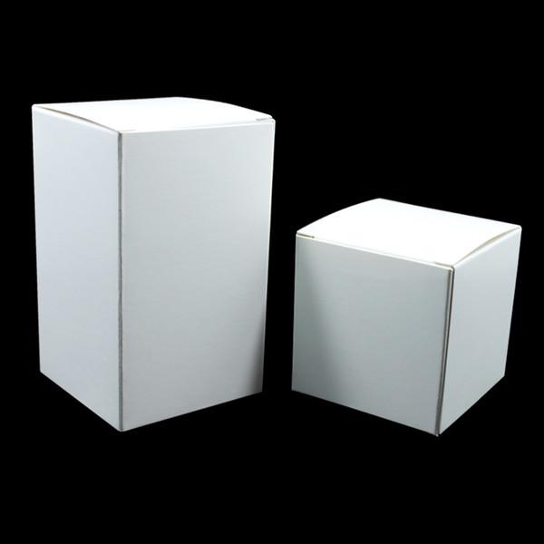 20 Stücke Weiß Falten Kraftpapier Verpackung Boxen Handwerk Papier Geschenkboxen für Hochzeit Süßigkeiten Gefälligkeiten Handgemachtes Seifenpaket freies verschiffen