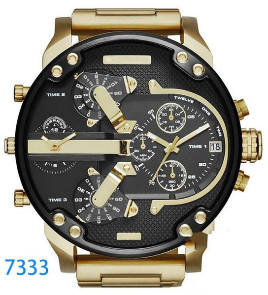 Marca de relógios de luxo Esporte militar montres mens novo reloj original grande mostrador de discagem relógios dzels dz7331 dz7312 dz7315 dz7333