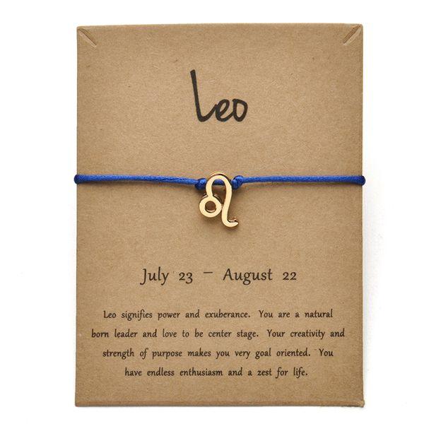 Tarjeta azul dorada Leo-Gold
