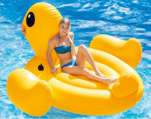 2019 Duck Shape Water Play Equipment Adult Safety PVC Inflatable Swimming  Air Mat Summer Sports Pool Float Air Bed For Adult Gift From Nicespring, ...