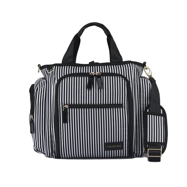 Multifunctional Baby Changing Diaper Nappy Bag Mommy Daddy Backpack Nappy Maternity Shoulder Backpack Outdoor Bags Large Strips