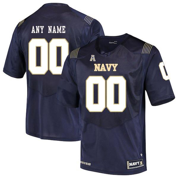 Jugendmarine-Midshipmen der kundenspezifischen Männer irgendein Name irgendeine Zahl personifizierte Kindermann-Zuhause weg NCAA-College-Fußball-Trikots
