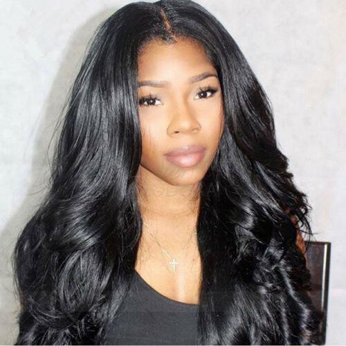 Cabelo Humano 13x6 brasileira peruca dianteira do laço 150% Densidade Glueless Pré-arrancada onda do corpo rendas frente perucas para mulheres negras Natural Color onda do corpo