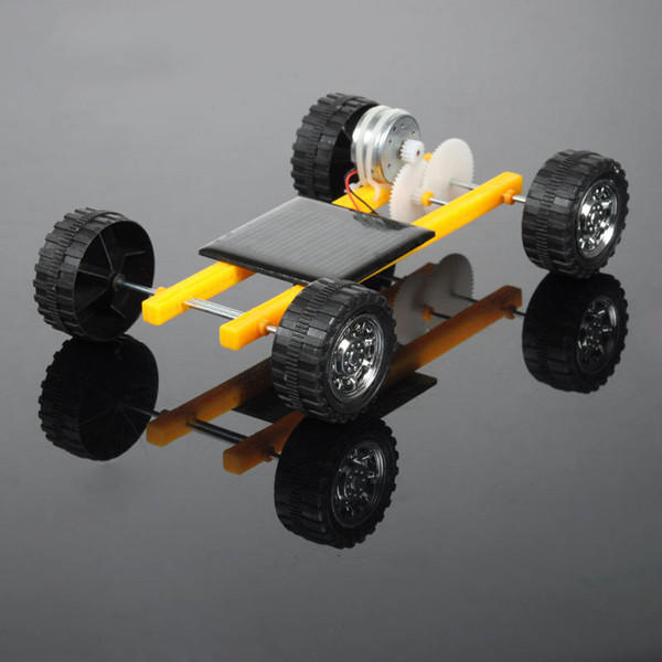 Fai da te Robot Solar Mini Powered Toy Bambini Solar Car Assemble Toy Set Powered Car Kit Educational Science per Kid
