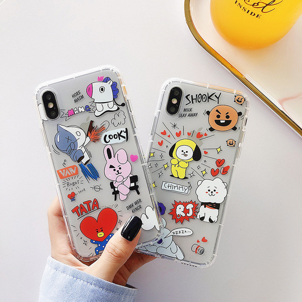 Kawaii Cartoon Чехлы для Iphone 11 Pro Max Хг X Xs Max 12 8 7 Plus 6 6s Plus 8Plus Симпатичные случаи телефона 3d крышки случая кожи Hongkong
