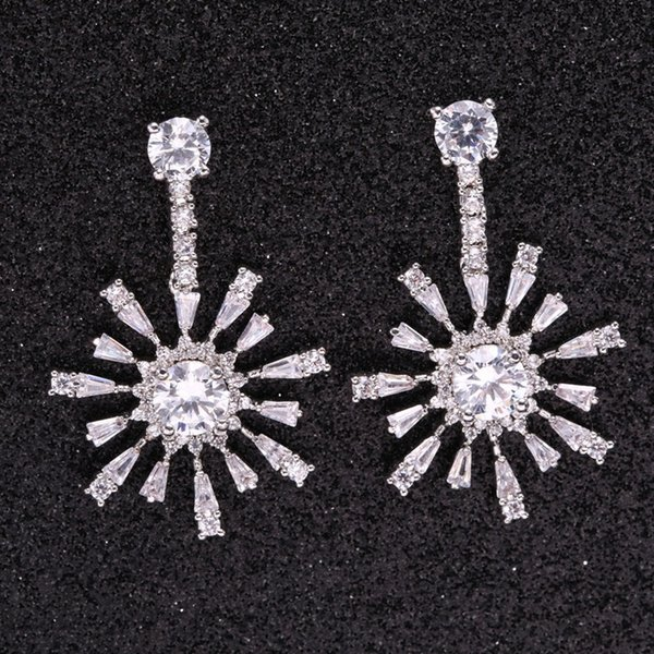 Manufacturer direct sales snow Christmas Earrings zircon new earrings antiallergy wholesale JWE2260