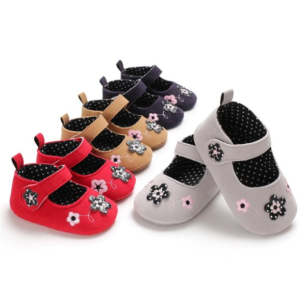 Baby girls shoes newborn Slip-On first walker Skid-Proof princess for flower moccasins soft sole crib shoes spring cute new