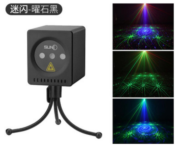 2019 NEW chargeable projection Outdoor party LED 40 Patterns Mini Projector Red Green Blue DJ Disco Light Stage Xmas Party Laser Lighting