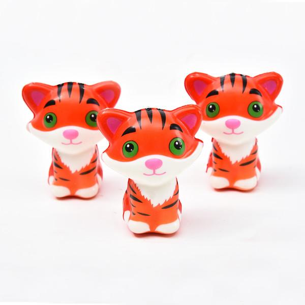Мультфильм тигр Squishy игрушка медленный рост Jumbo снятия стресса куклы многоцветный дети сжать игрушки детские игрушки декомпрессии