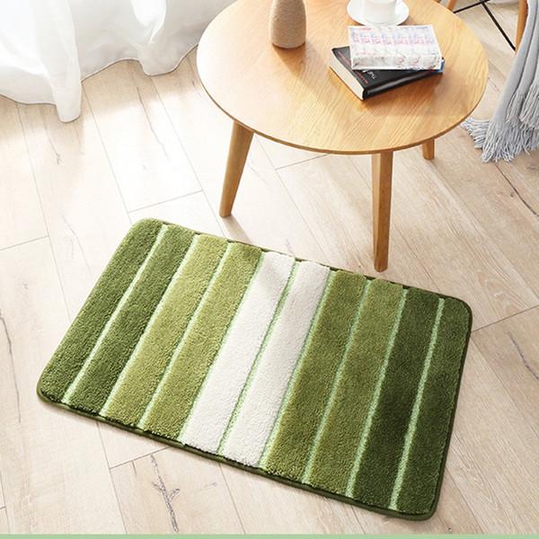 2018 Hot Sale New Bathroom Floor Mat Kitchen Floor Mat Stripped Door Carpets Bedroom Entrance Non Slip Water Absorption Rugs