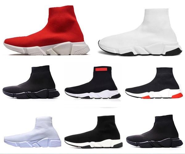 Luxury Casual Calzino Scarpe Speed Trainer Sneakers di alta qualità Speed Calzino Race Runner Scarpe nere Scarpe sportive da corsa per uomo e donna