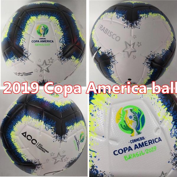 Vendas Hot 2019 bola de futebol Copa América tamanho final KYIV PU 5 bolas grânulos de futebol antiderrapante envio gratuito de bola de alta qualidade