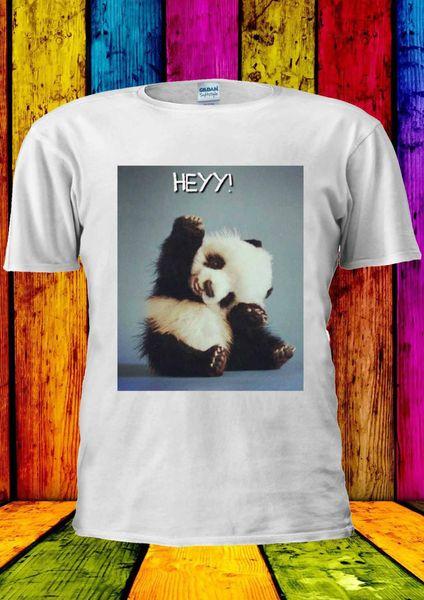 Baby Panda Hey ! Cute Bear Tumblr T-shirt Vest Tank Top Men Women Unisex 1028 Brand shirts jeans Print Classic Quality High t-shirt
