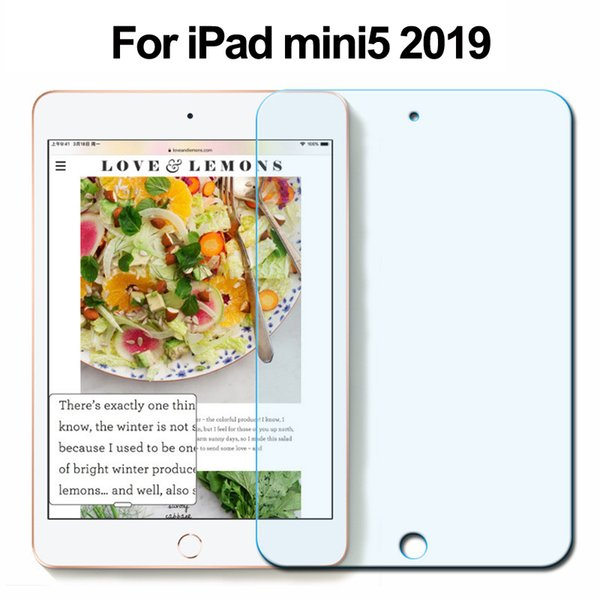 Para el nuevo iPad mini5 Película de pantalla 9H Cristal templado antirayas 0.26 MM / 0.33 MM Protector de pantalla para iPad mini5 2019 7.9 pulgadas Caja de papel al por menor