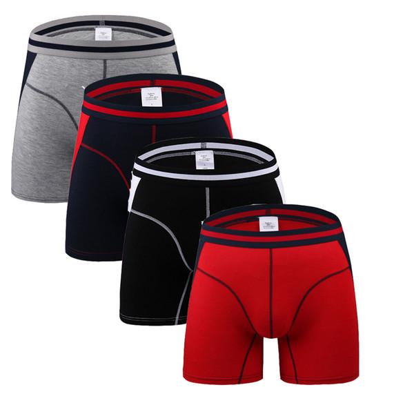 4Pcs/lot Comfortable Long Leg Short Leg Mens Boxers Shorts Male Underpants U-Convex Man Underwear Cueca Masculina M,L,XL,2XL,3XL Y19042302
