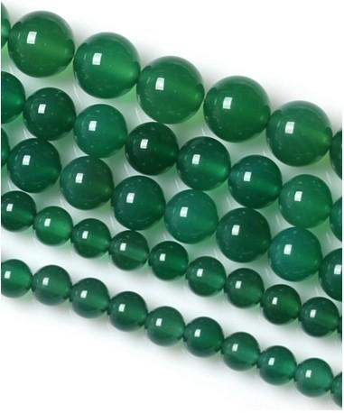 round beads wholesale Smooth Green Agates Onyx Round Beads For Jewelry Making 15.5inch/strand Pick Size 6 8 10 12mm Making Bracelet -F00058