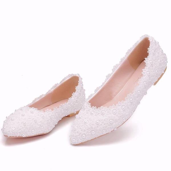 Plus Size pérolas 34-43 Calçados Femininos dobráveis Flats Primavera-Verão Ladies Flat Shoes Moda Loafers Shoe
