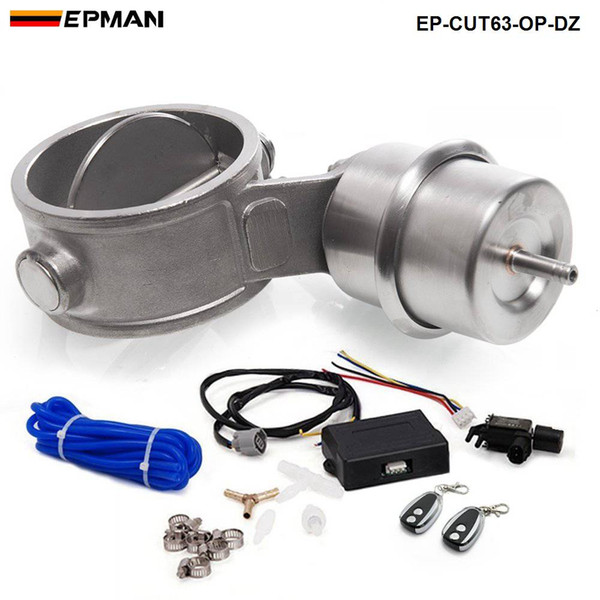 top popular 2.5'' 63mm Open NEW style Vacuum Exhaust Cutout Valve with Wireless Remote Controller Set EP-CUT63-OP-DZ 2021