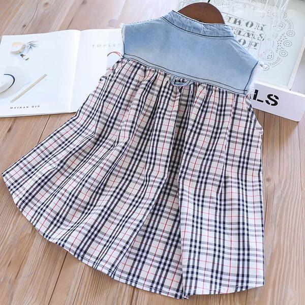 Girls Tops Blouses Girls Shirts Kids Designer Clothes Girls Tee Shirts  Summer New Denim Paid Kids T Shirts Kids Clothes A5730 Boys Tee Shirts Kid  T