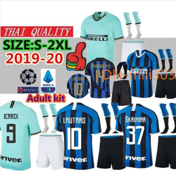2019 2020 LAUTARO VECINO ZANETTI MASHUP camiseta 20º ANIVERSARIO POLITANO camisetas de fútbol 19 20 ICARDI PERISIC camiseta de fútbol uniformes kit