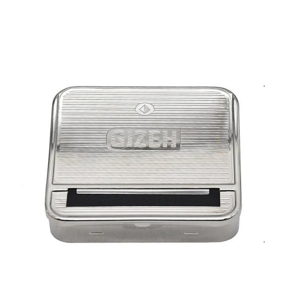 Custodia in metallo per scatole di sigarette a forma di piramide 70mm Custodia in metallo per scatole di sigarette automatica per maschi e femmine Resistente all'abrasione 5 5yh C1