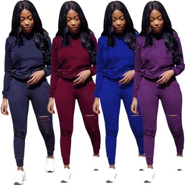 Designer Women clothes two piece women outfits hoodie tracksuits jogging sport suit sweatshirt tight sport suit klwc6