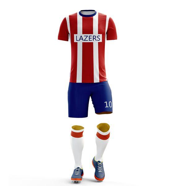 Wholesale Print New Men Kids Soccer Jerseys Set Suitable for summer sportswear Football Training Uniforms Team Football Jerseys Sets