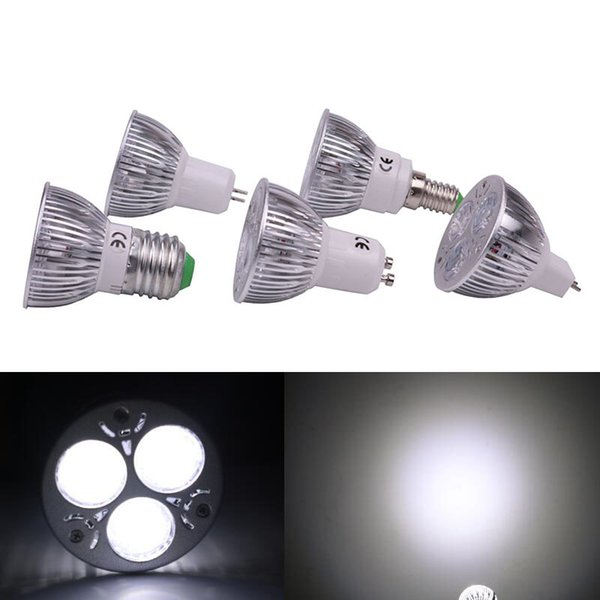 3W LED Birnen Scheinwerfer Foco LED 12V MR16 110V 220V E27 GU10 E14 Lampe Innenraum Energiesparlampen Beleuchtung Lampe 100 Stück