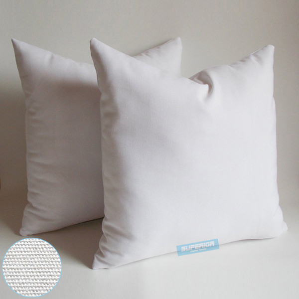 best selling 50pcs All Size 8 Oz Natural & White & Semi White Colors Cotton Canvas Pillow Case Blank Pillow Cover For Embroidery   Screen Print   Paint