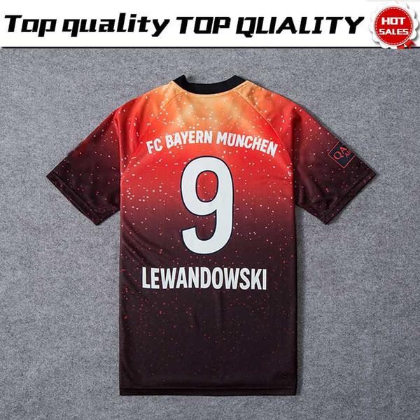 New 2019 # 25 MULLER Edição Limitada de futebol Jersey Laranja EA Sports Jerseys # 9 LEWANDOWSKI 11 # JAMES versão especial camisas de futebol À Venda