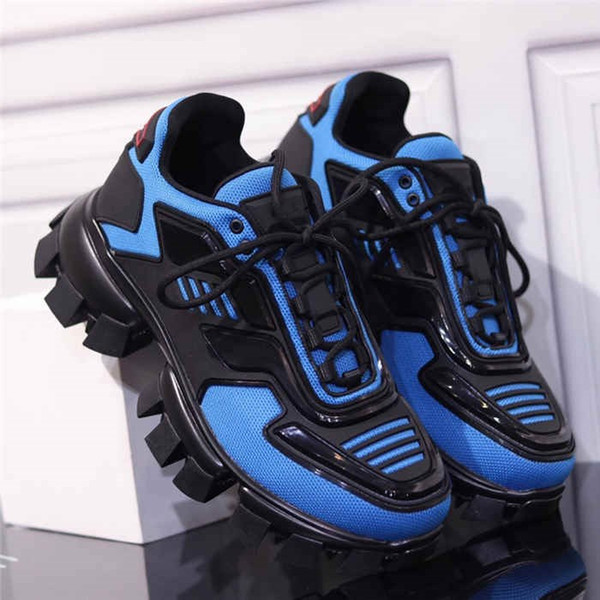 Latest Collection Mens Cloudbust Thunder Knit Sneakers, Fabric Eyestay Oversized Trainers Mens Hiking Boots in Blue Yellow Black Size 38-44