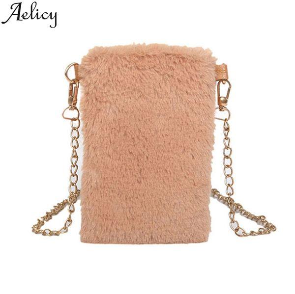 Aelicy Crossbody Shoulder Messenger Bag Solid Flock Phone Shoulder Bag Women High Quality Mobile Phone Frame Bags Cycling