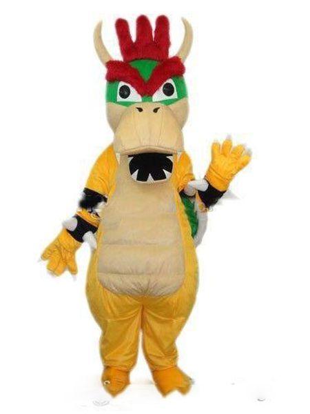 Hot new Super Mario Dragon Dinosaur Mascot Costume Cartoon Fancy Party Dress Halloween Carnival Costumes Adult Size