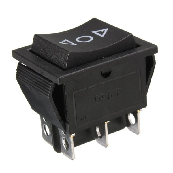 best selling 12 Volt 6-Pin DPDT Power Window Momentary Rocker Switch AC 250V10A 125V15A