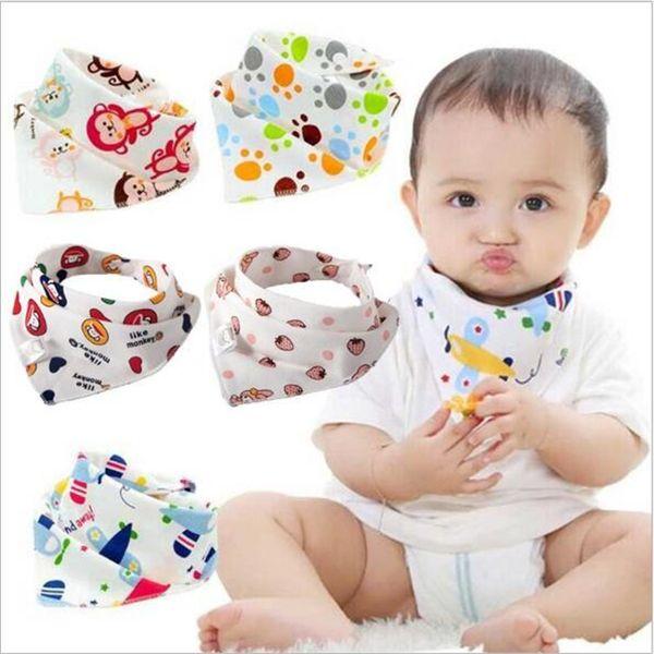 41 Стили Детские нагрудники из хлопка для младенцев ручной работы треугольные повязки с двойным слоем Пряжка Dot Chevron с принтом Дети слюни полотенце отрыжка FJ153