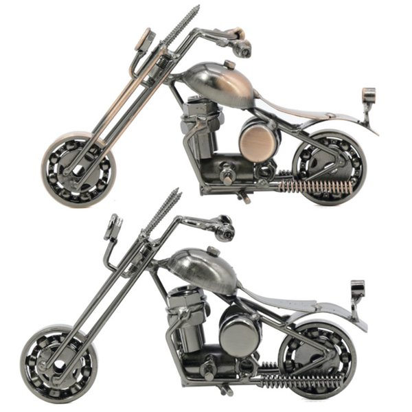 Handmade Wrought Iron Motorcycle Model Mettle M32 metal crafts decoration desktop decorations with gun-black bronze colors DHL free
