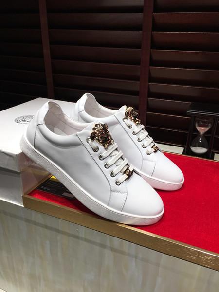 2019d calçados esportivos casuais dos homens, high-end personalizado marca de moda sapatos baixos, DHL expressar conjunto completo de caixas de sapato originais