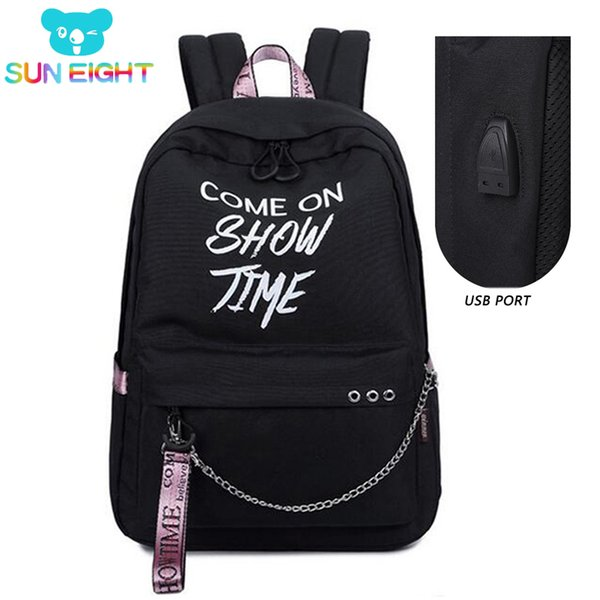 15.6 inch Luminous Laptop Backpacks Anti Theft USB Port Backpack Nylon Travel Backpacks School Bags Waterproof Fashion Colors