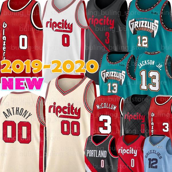 best selling Portland Trail Damian 0 Lillard Jersey Blazer Carmelo 00 Anthony Memphis Jersey Grizzlies 12 Ja Morant C.J. 3 McCollum JAREN JACKSON JR.