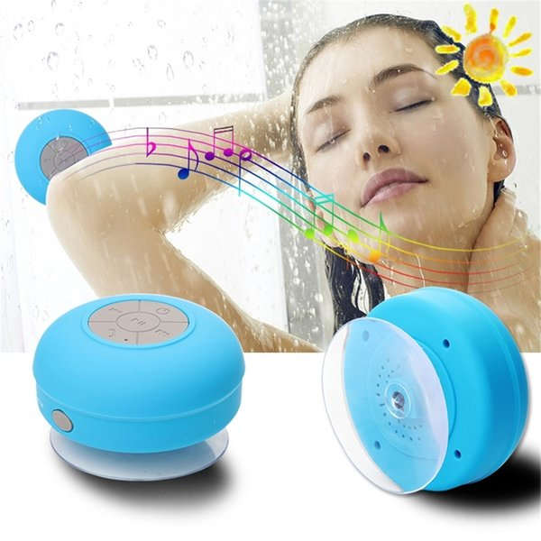 Bts06 Bluetooth Hoparlör Su geçirmez Kablosuz Duş Eller serbest Mikrofon Emme Chuck Hoparlör Oto Hoparlör Taşınabilir Mini MP3 Süper Bass Çağrı Alma