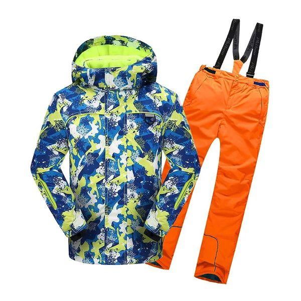 winter ski suit for men 2pieces Snowboard suit men's winter jacket outdoor