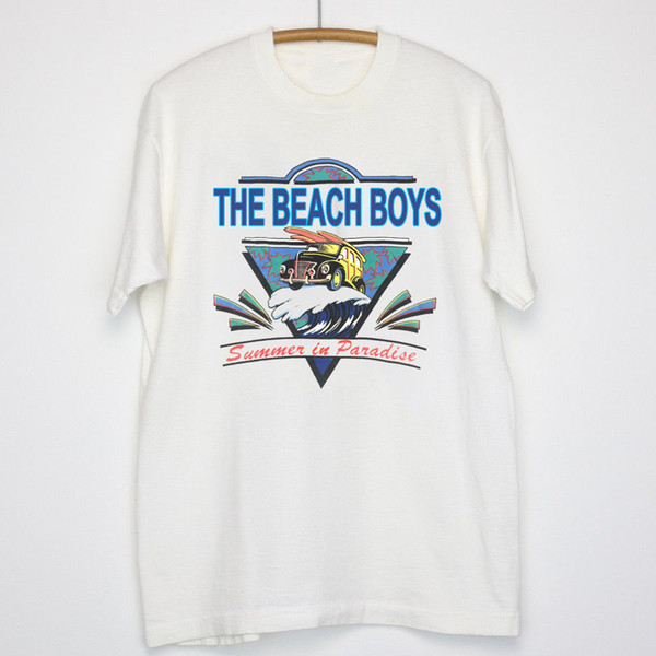 Jahrgang 1995 The Beach Boys Konzert World Tour T-Shirt USA Größe S - 3XL TOP !!. Mann-Frauen-Unisexart- und weiset-shirt Freies Verschiffenschwarzes