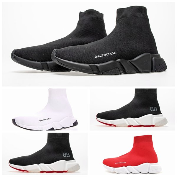 Balenciaga Speed Trainer haut de nouveaux formateurs de vitesse Sock tricot chaussures originales triple baskets Sneakers Femmes Hommes qualité