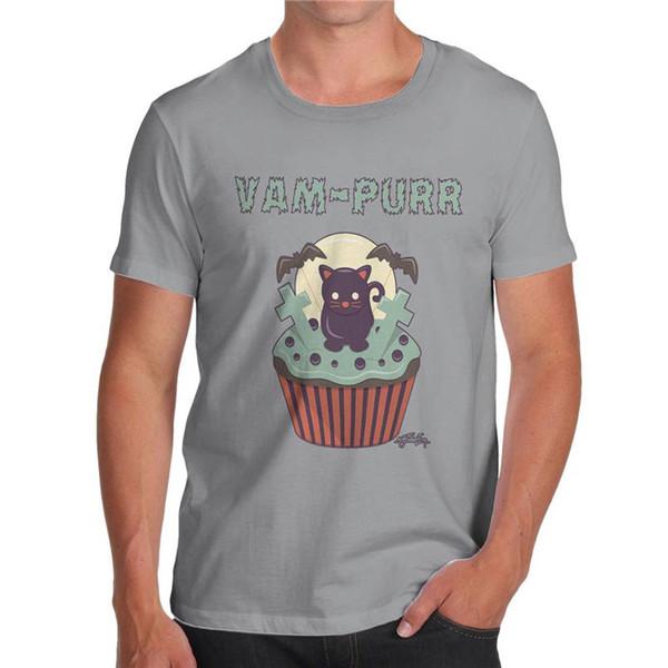 2018 New Casual T Shirt Tee Short Van Purr Cupcake Men Top T Shirt