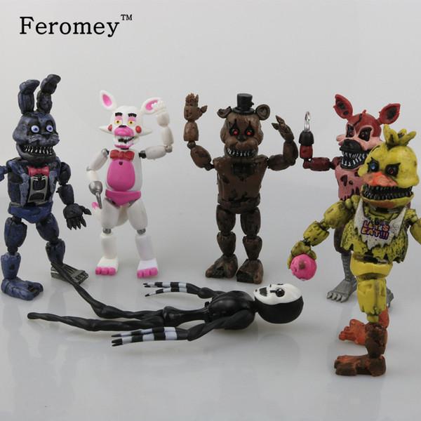 New Arrival Five Nights At Freddy ' ;S Fnaf Action Figures Toys Bonnie Foxy Freddy Fazbear Bear Pvc Figure Dolls Toys For Children