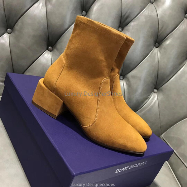 Botines del invierno del otoño el nuevo estilo de diseño de lujo botines grueso antideslizante Zapatos de invierno Rastro de estrella para mujer del diseñador de moda mejores botas de calidad