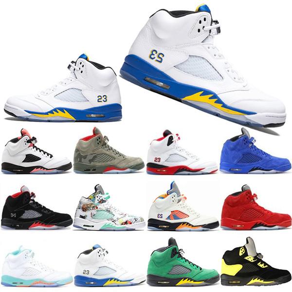 High Quality 5 5s Mens Basketball Shoes Camo Light Aqua Oregon Ducks Black Metallic Top Quality Designer Shoe Sports Trainer Sneakers 40-47